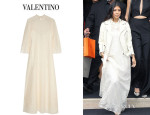 Kourtney Kardashian's Valentino Cotton-Blend Lace Gown