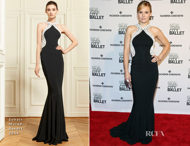 Kristen Bell In Zuhair Murad - New York City Ballet 2014 Spring Gala