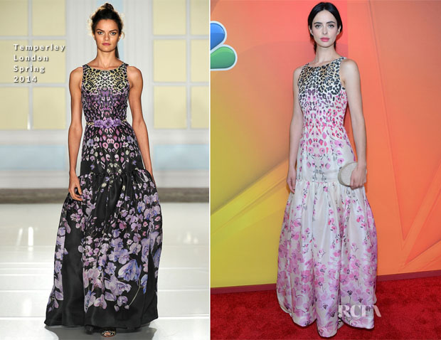 Krysten Ritter In Temperley London  - 2014 NBC Upfront Presentation2