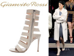 Kylie Jenner's Gianvito Rossi Leather Strap Sandals