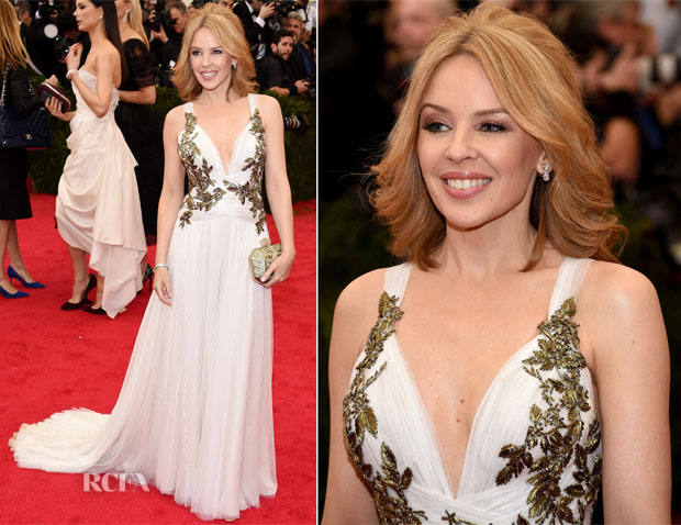 Kylie Minogue In Marchesa - 2014 Met Gala