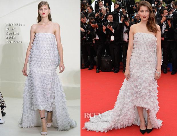 Laetitia Casta In Christian Dior Couture - 'Grace of Monaco' Cannes Film Festival Premiere & Opening Ceremony