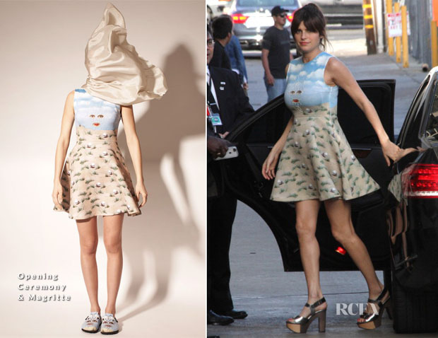 Lake Bell In Opening Ceremony & Magritte -  Jimmy Kimmel Live