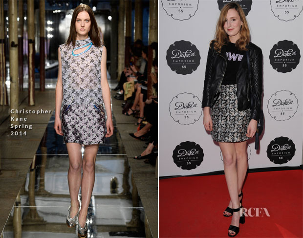 Laura Carmichael In Christopher Kane - The Duke Street Emporium Store Launch