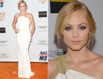 Laura Vandervoort In Badgley Mischka Collection - 21st Annual Race To Erase MS Gala