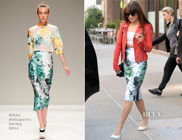 Lea Michele In Bibhu Mohapatra - Out In New York City