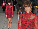 Lea Michele In Valentino - Late Show with David Letterman