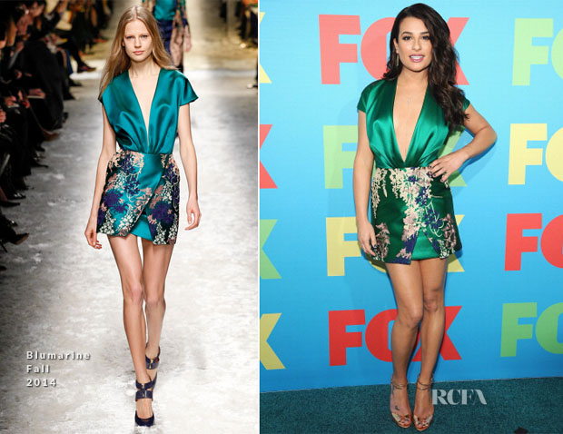Lea Michele in Blumarine - FOX 2014 Programming Presentation
