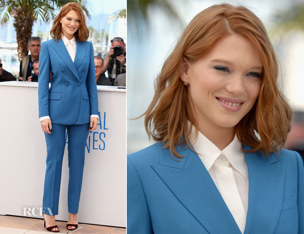 Lea Seydoux In Prada - 'Saint Laurent ' Cannes Film Festival Photocall