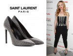 Leslie Mann's Saint Laurent Studded Pumps