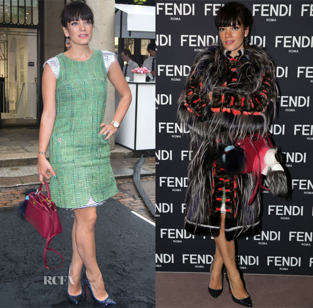 Lily Allen In Chanel & Fendi - Chanel VIP Beauty Launch & Fendi Bond Street Store Opening Party