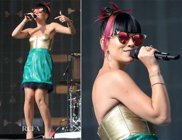 Lily Allen In House of Holland - Radio 1's Big Weekend