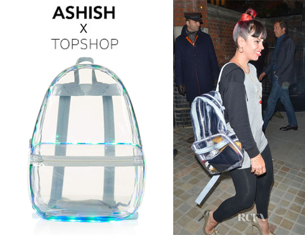 Lily Allen's Topshop x Ashish LED Light Up PVC Backpack