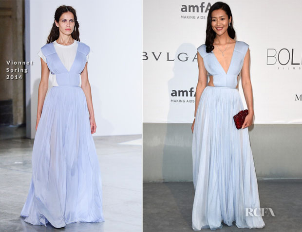 Liu Wen In Vionnet - amfAR Cinema Against Aids Gala