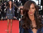 Liya Kebede In Roberto Cavalli - 'Mr Turner' Cannes Film Festival Premiere