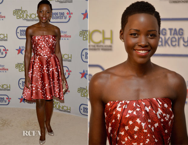 Lupita Nyong'o In Giambattista Valli - 2014 Annual Garden Brunch