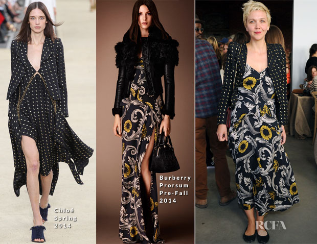 Maggie Gyllenhaal In Chloé & Burberry Prorsum - First Annual Village Fete