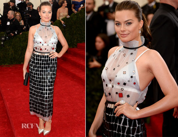 Margot robbie in prada met gala 2014
