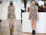 Marion Cotillard In Maison Martin Margiela Couture - 'Two Days, One Night' Cannes Film Festival Photocall