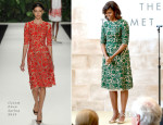 Michelle Obama In Naeem Khan - Costume Center Grand Opening