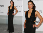 Michelle Rodriguez In Elisabetta Franchi - amfAR Cinema Against Aids Gala