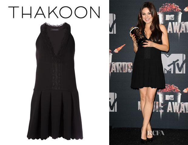 Mila Kunis' Thakoon Scalloped Hem Dress