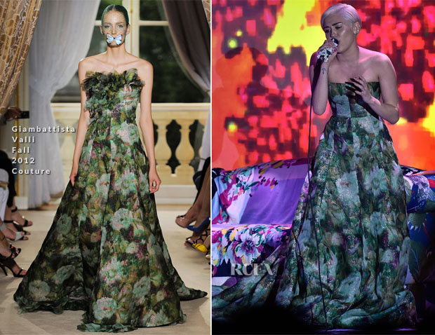 Miley Cyrus In Giambattista Valli Couture – World Music Awards 2014