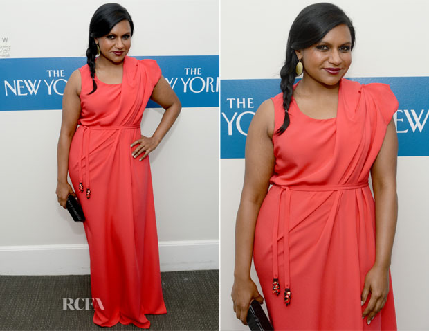 Mindy Kaling In Escada - The New Yorker's White House Correspondents' Dinner Weekend Pre-Party