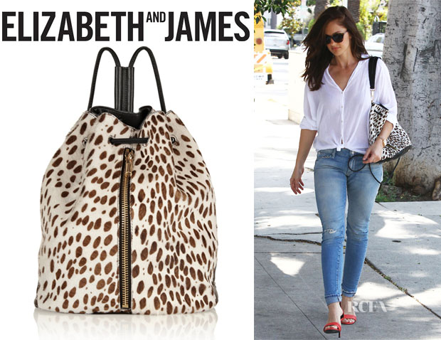 Minka Kelly's Elizabeth and James 'Cynnie' Sling Leopard-Print Backpack