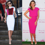 Miranda Kerr In Victoria Beckham - Royal Albert Teaware Promotion