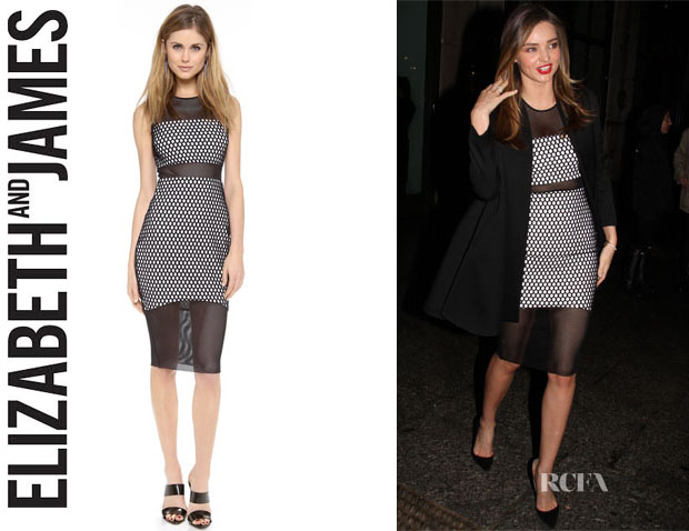 Miranda Kerr's Elizabeth and James 'Eugna' Sleeveless Dress