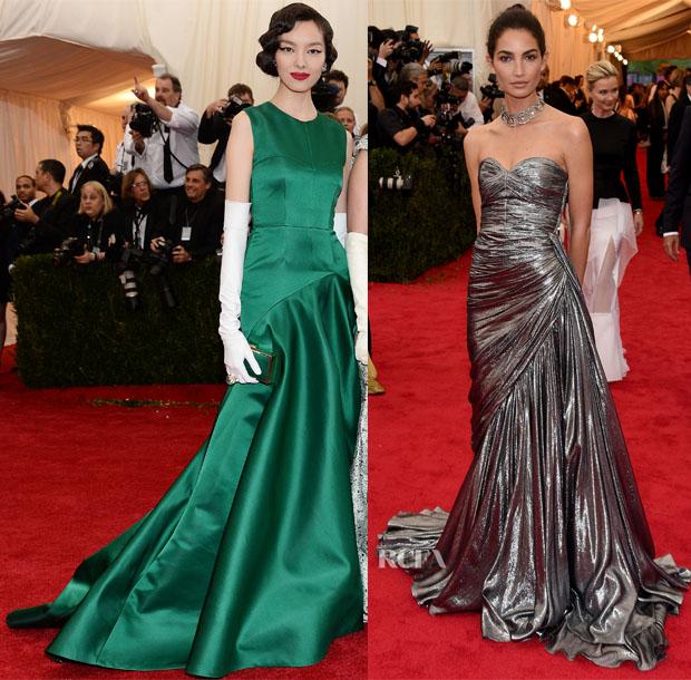 Models The 2014 Met Gala Red Carpet Fashion Awards