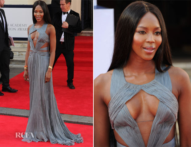 Naomi Campbell In Robert Cavalli - Arqiva British Academy Television Awards