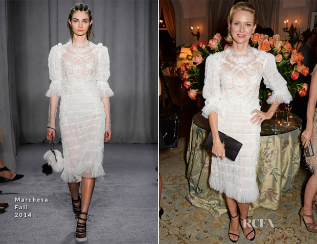 Naomi Watts In Marchesa - Charles Finch Filmmakers Dinner