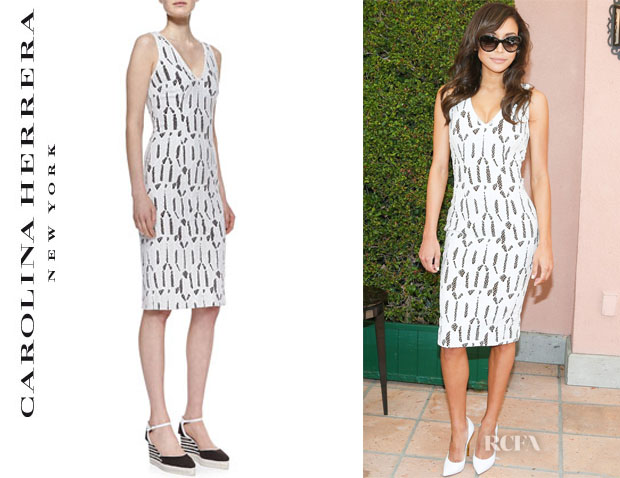Naya Rivera's Carolina Herrera Shattered Glass Lace Dress