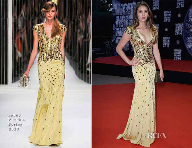 Nina Dobrev In Jenny Packham SS13 - World Music Awards