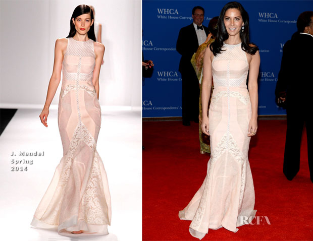 Olivia Munn In J Mendel - 100th Annual White House Correspondents' Association Dinner