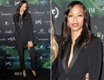 Zoe Saldana In Saint Laurent - Relativity's 10th Anniversary Party