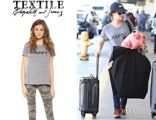 Rachel Bilson's TEXTILE Elizabeth and James 'Happy' Tee1