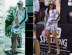 Rihanna In Bernhard Willhelm - Brooklyn Nets vs. Miami Heat