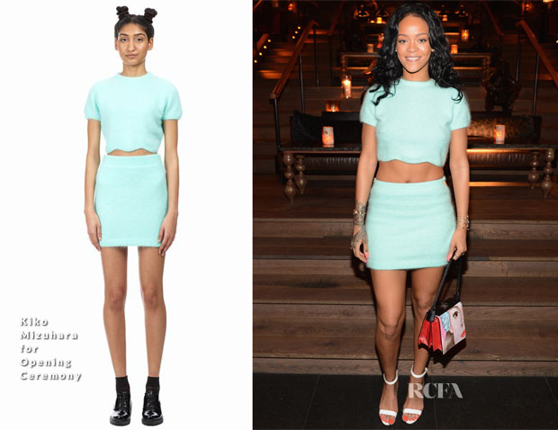 Rihanna In Kiko Mizuhara for Opening Ceremony  - Roc Nation Sports 1 Year Anniversary Luncheon