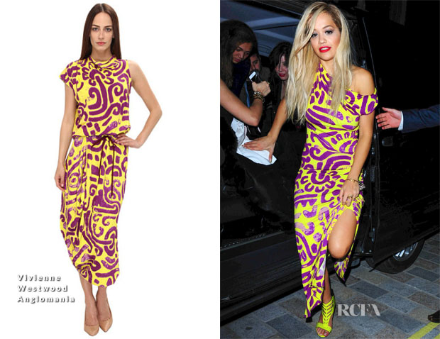 Rita Ora In Vivienne Westwood Anglomania - Chiltern Firehouse