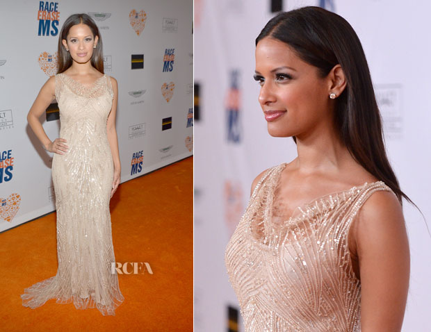 Rocsi Diaz In Haute Hippie -21st Annual Race To Erase MS