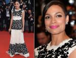 Rosario Dawson In Dolce & Gabbana - 'Captives' Cannes Film Festival Premiere