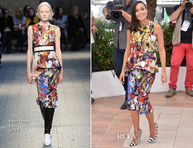 Rosario Dawson In Sportmax - 'Captives' Cannes Film Festival Photocall