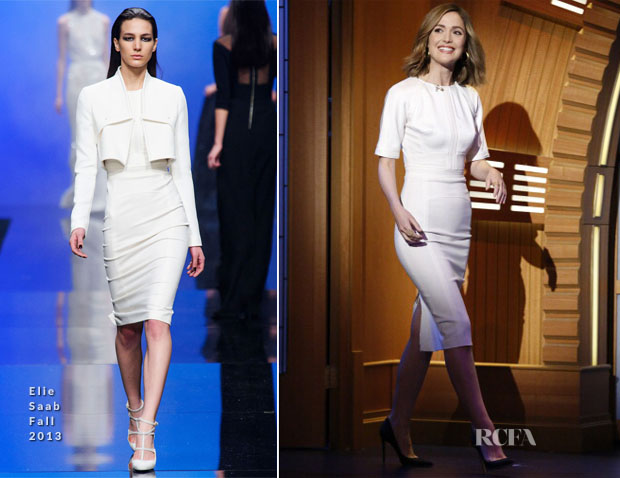 Rose Byrne In Elie Saab - Late Night with Seth Meyers