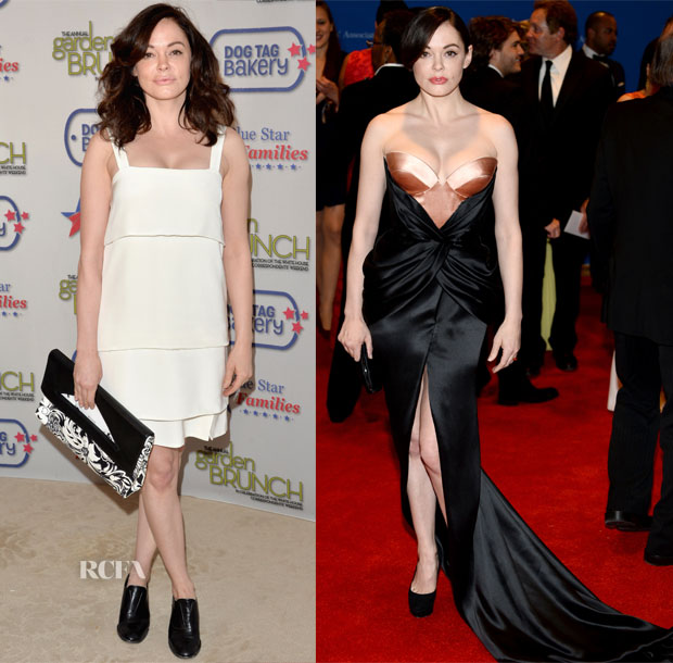 Rose McGowan In Ruffian & Ulyana Sergeenko Couture - Garden Brunch & White House Correspondents' Association Dinner