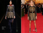 Rosie Huntington-Whiteley In Balmain - 2014 Met Gala