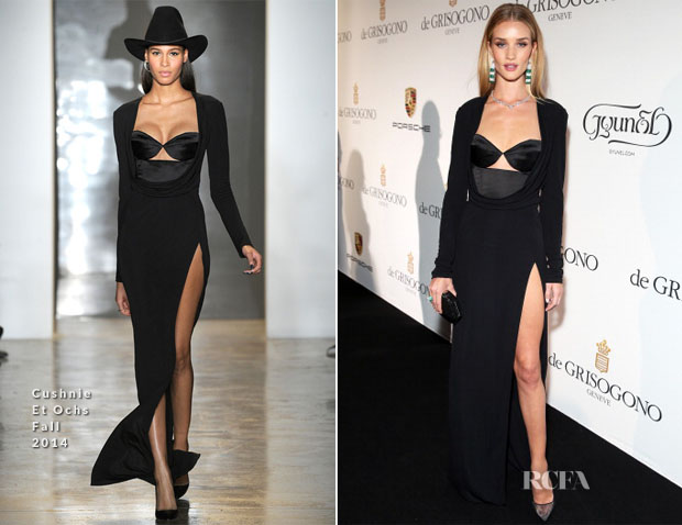 Rosie Huntington-Whiteley In Cushnie Et Ochs - De Grisogono Fatale In Cannes Dinner Party