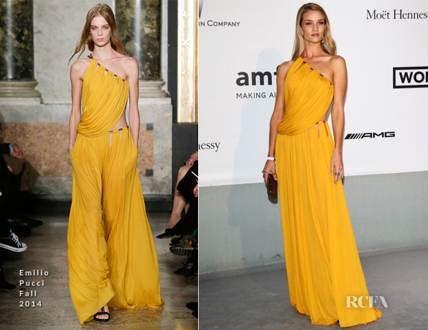 Rosie Huntington-Whiteley In Emilio Pucci - amfAR Cinema Against Aids Gala